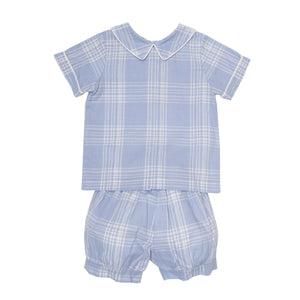 Toddler Jake Plaid Short Set