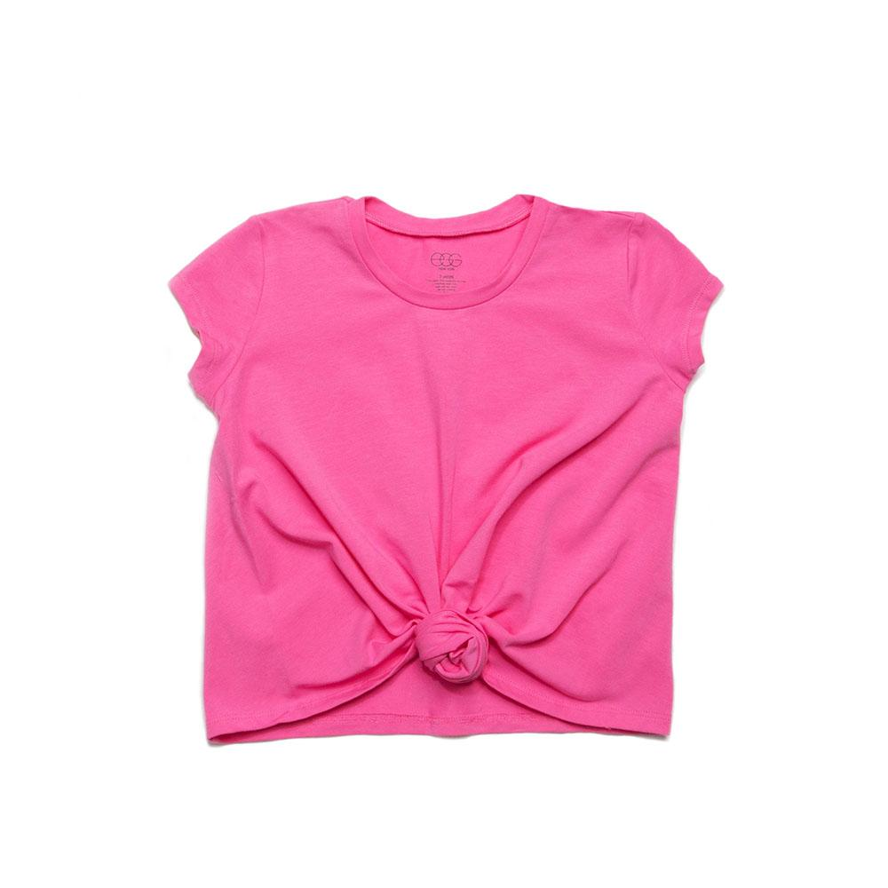 Girls Hot Pink Rebecca Knot Tee