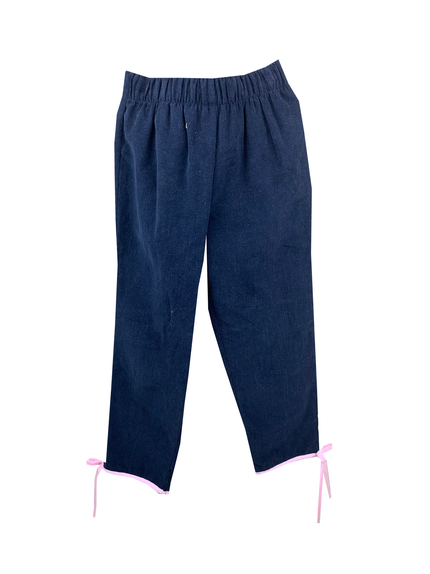 Navy Cord Pant w/ Pink Cord Tie