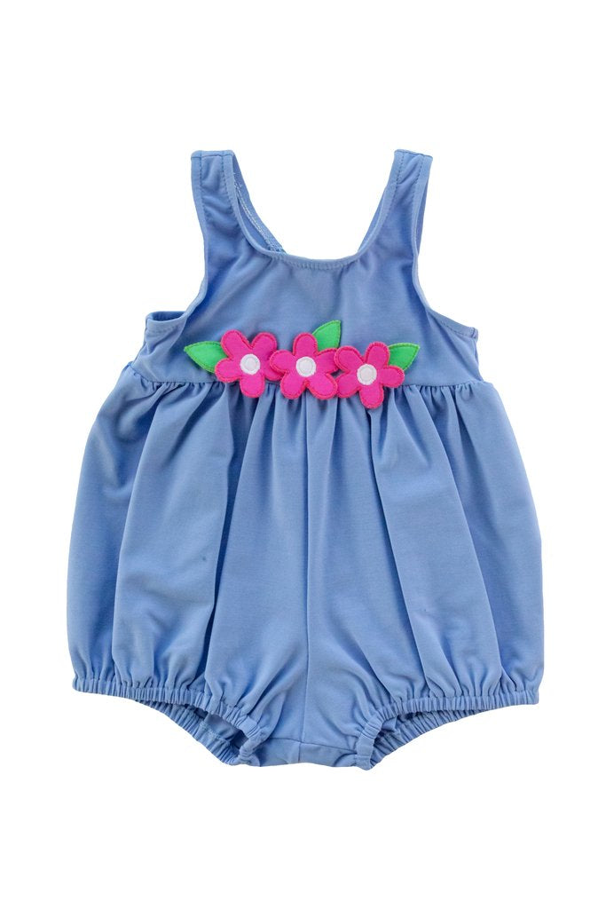 Infant Bubble Swimsuit w/ Flowers