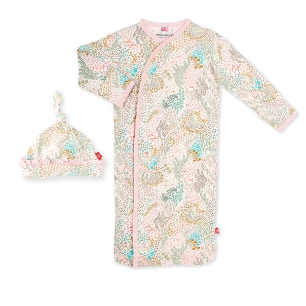 Coral Cay Magnetic Gown Set NB/3M