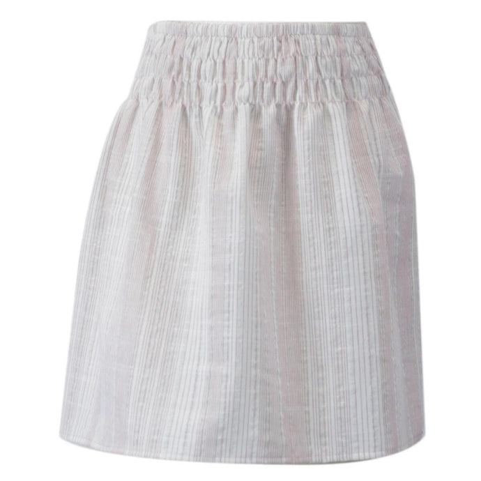 Cream Stripe Skirt