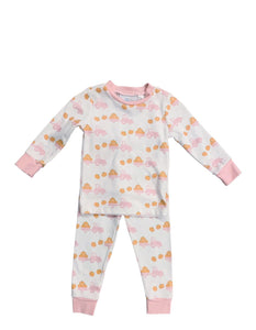 Infant Girl Two Piece Pumpkin Jammies