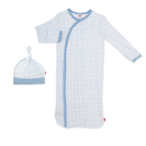 Greenwich Plaid Gown Set NB/3M