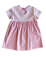 Load image into Gallery viewer, Infant Pink Stripe Dress w/ Hearts