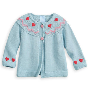 Toddler Nordic Crochet Heart Cardigan