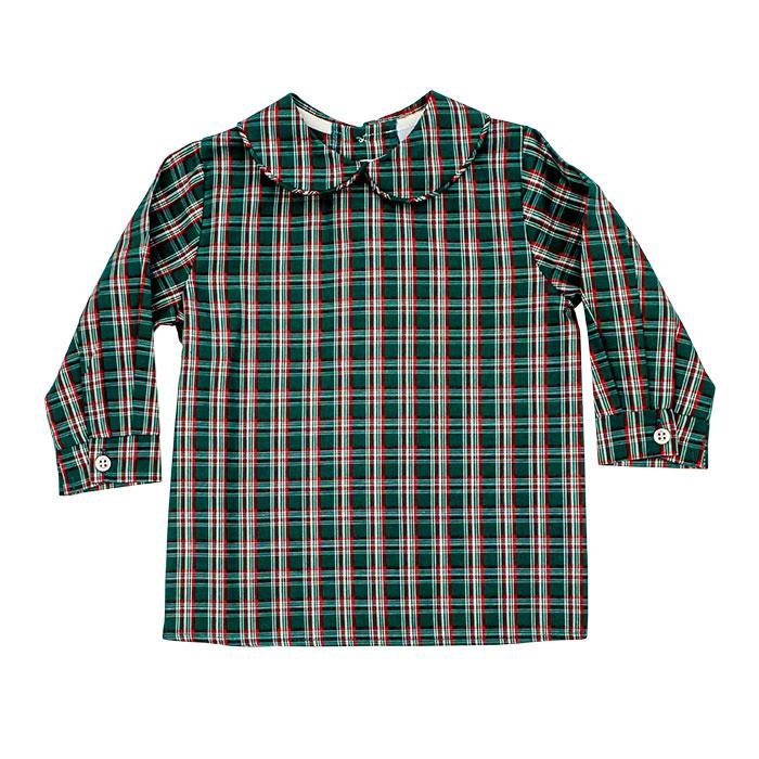 Holly Plaid Boys Piped Shirt