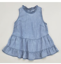 Indigo Top w/ Ruffle Bottom