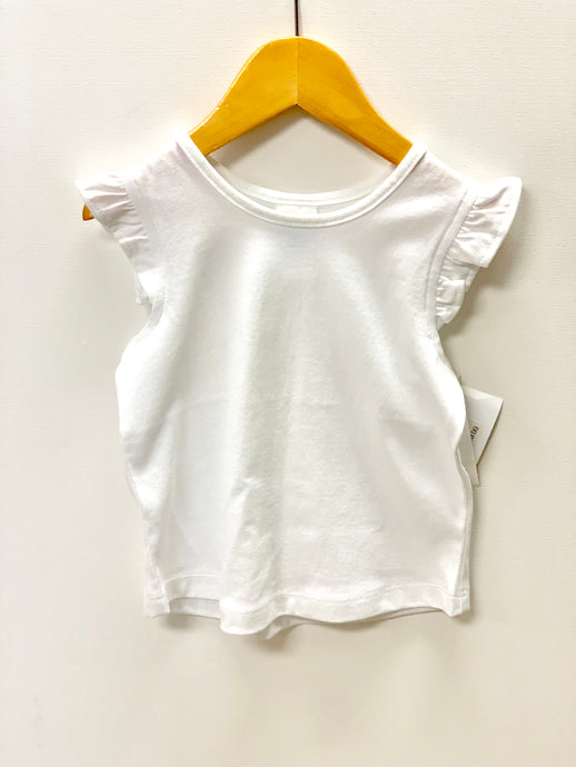 girls knit ruffled tee
