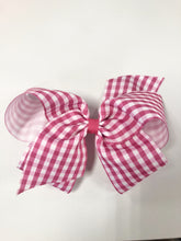 Load image into Gallery viewer, King Gingham Hair Bow