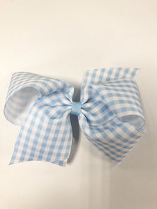 King Gingham Hair Bow