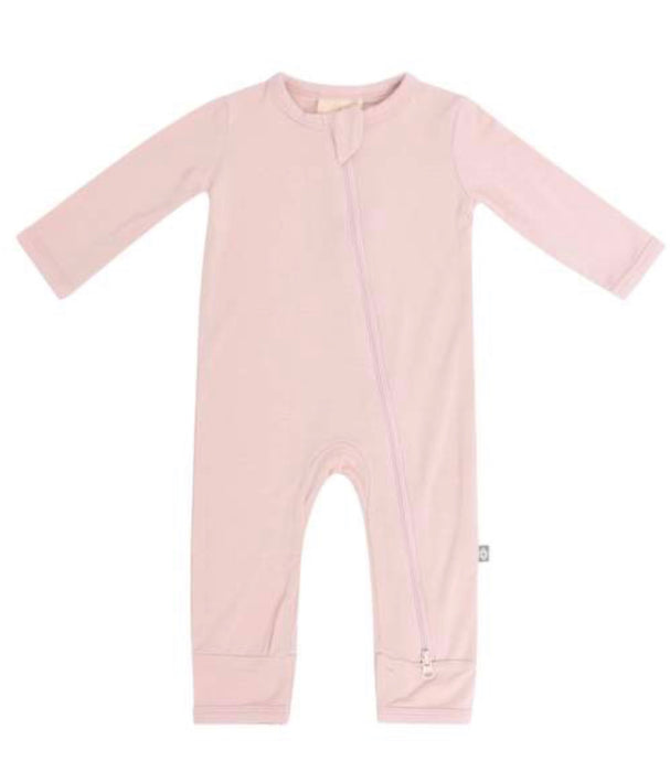 Blush Infant Zippered Footie
