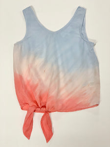 Tween Girl Ombre Side Tie V-Neck Tank