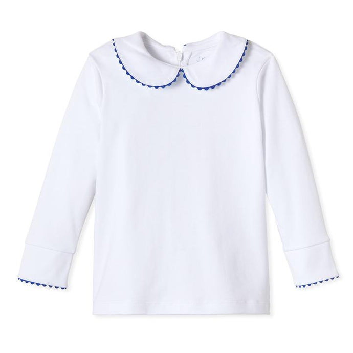 White Isabelle Shirt w/ Navy Ric Rac