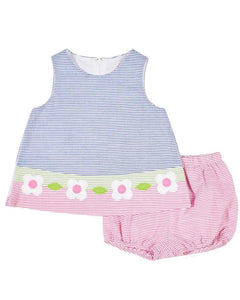 Infant Line Up Dress With Bloomer