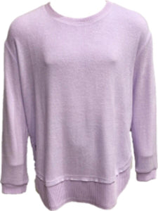 Lilac Lightweight Hacci Sweater