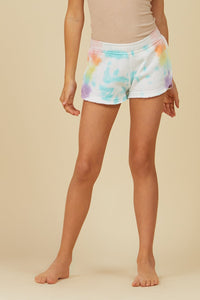 Lollipop Tie Dye Burnout Short