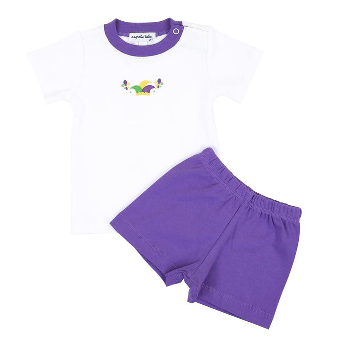 Toddler Mardi Gras Short Set