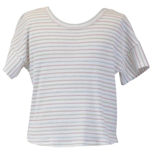 Stripe Top w/ Twist Back
