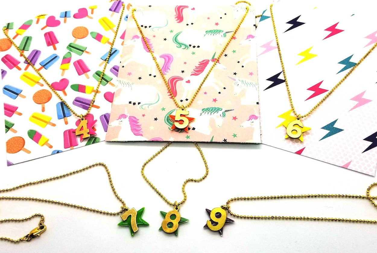 Birthday Number Necklaces