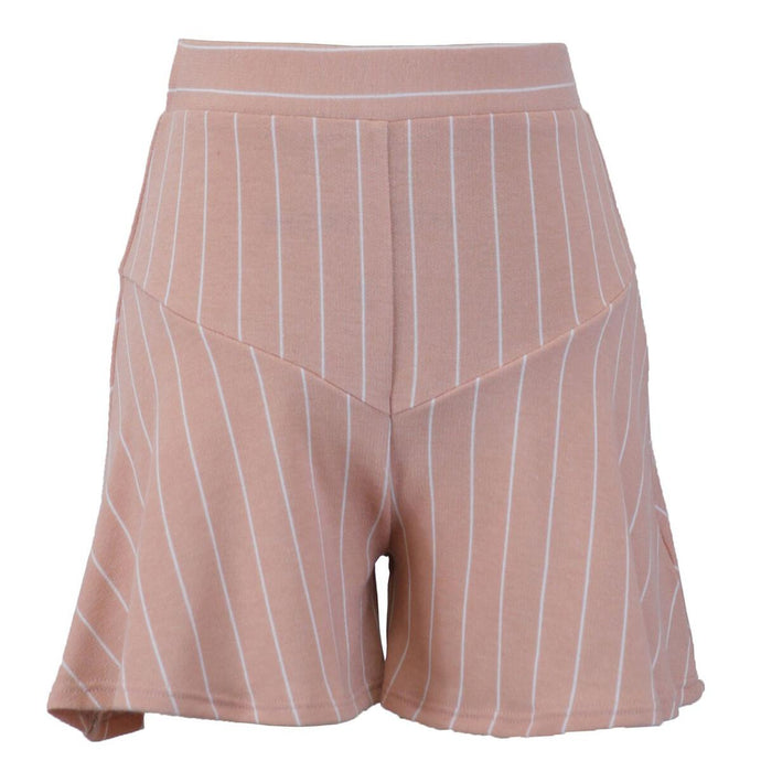 Peach Stripe Shorts