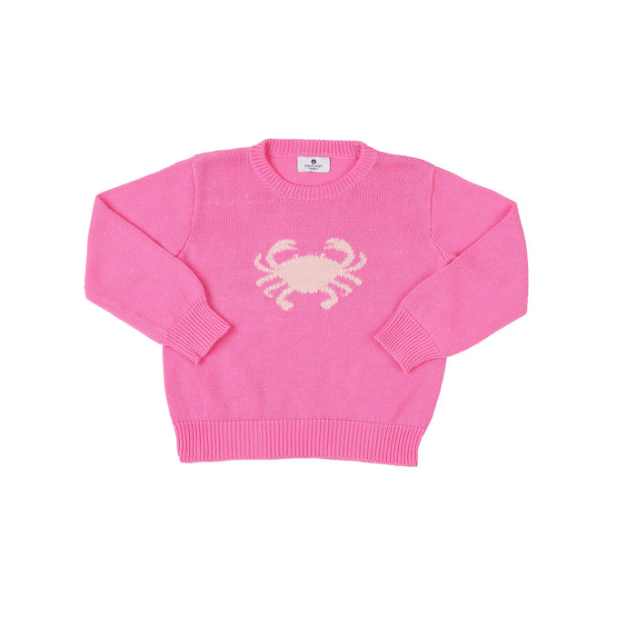 Pink Crab Intarsia Sweater