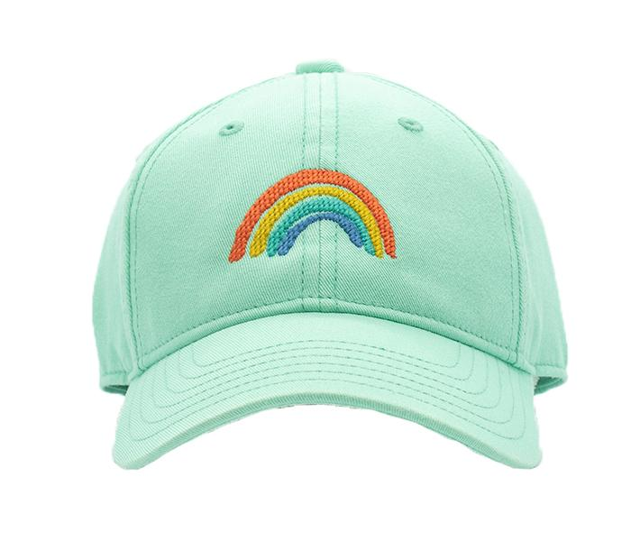 Kids Green Rainbow Baseball Hat