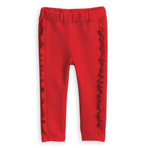 Red Lambsey Cozy Leggings