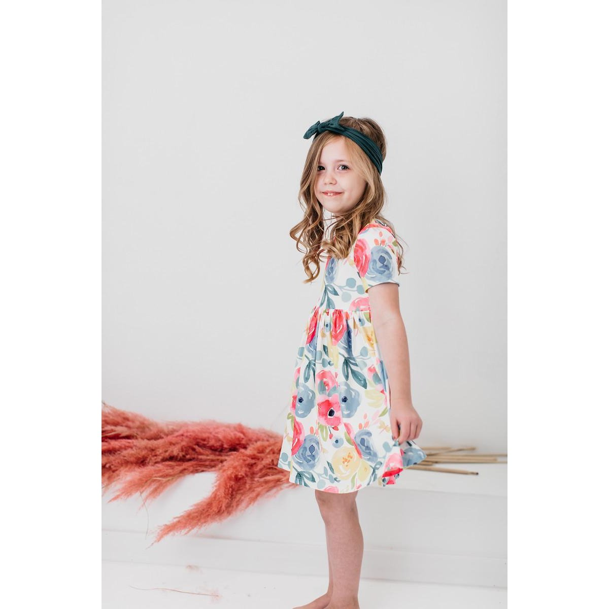 Rosie Short Sleeve Twirl Dress