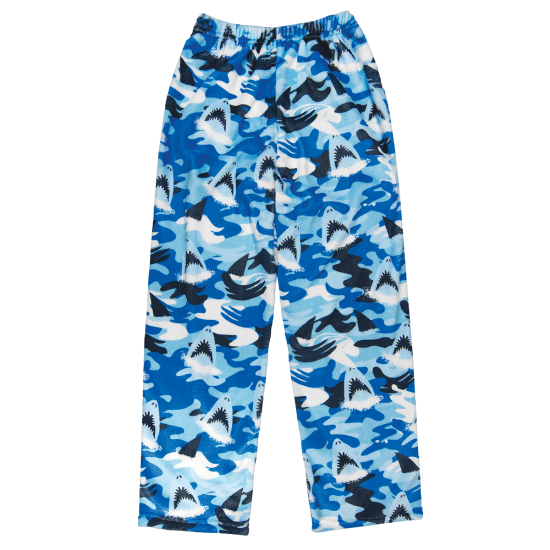 Boys Shark Plush PJ Pants