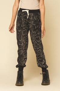 Snakeskin Burnout Jogger Pants