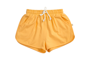 Yellow Knit Sophia Knit Jogger Shorts