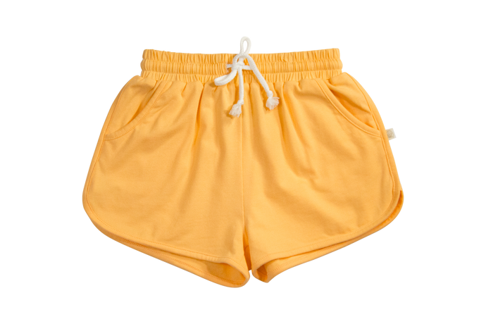 Yellow Knit Sophia Jogger Shorts