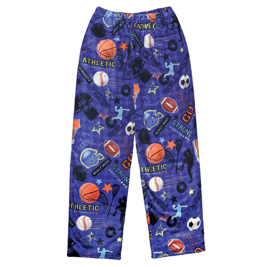 Boys Sports Plush PJ Pants