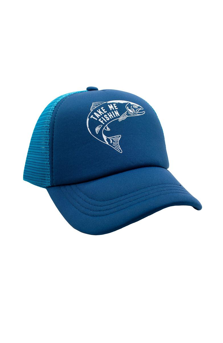 Ocean Blue Take Me Fishin Hat