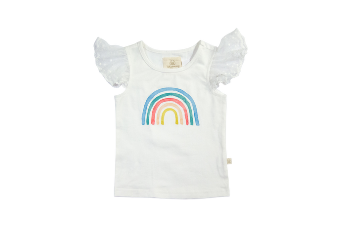 Watercolor Rainbow Tally Tee