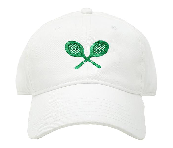 Kids White Tennis Raquets Baseball Hat