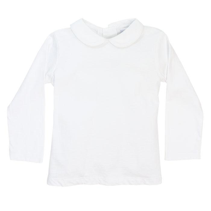 White Knit Unisex Piped Shirt