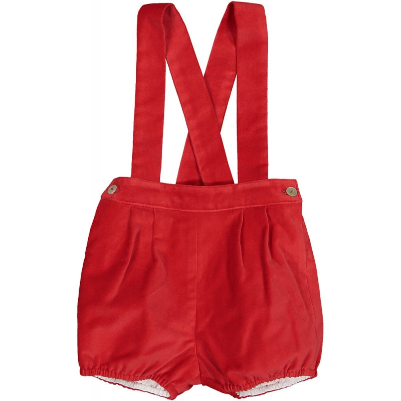 Vendome Red Baby Overalls