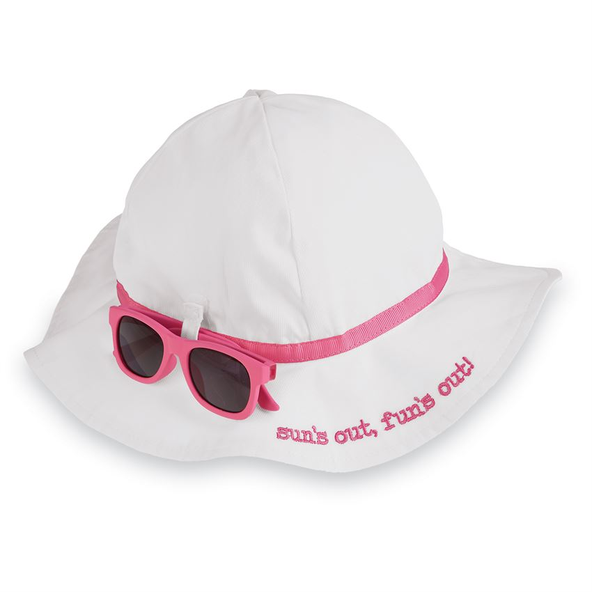 White Sun Hat w/ Sunglasses 6/18M