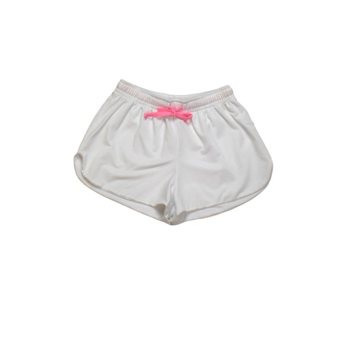 Emily White Short w/ Pink Drawstring