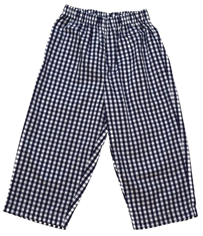 William Navy Check Pant
