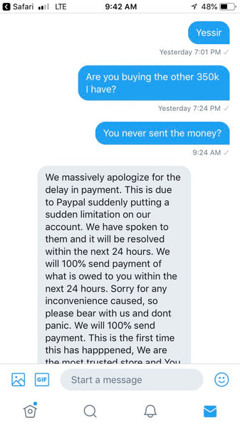 MUTStore MUT Store Scam scamming scams people