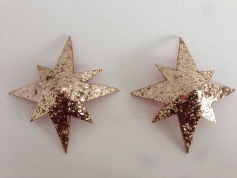 8 point star nipple covers. Burlesque nipple tassels/pasties.