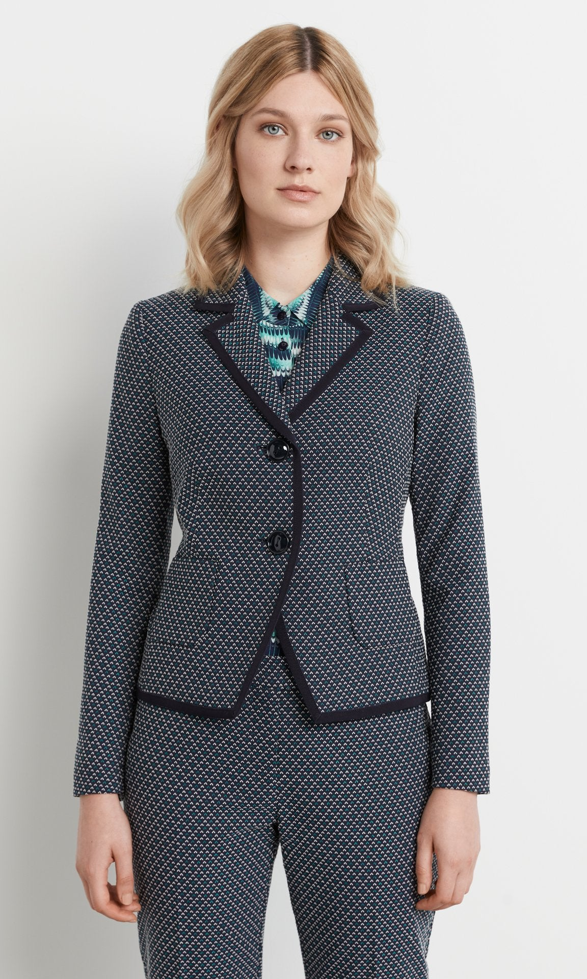 Sinclair Jacket - Navy/Teal