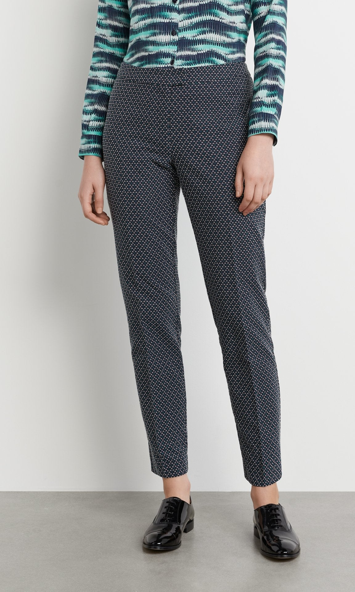 Sinclair Trouser - Navy/Teal