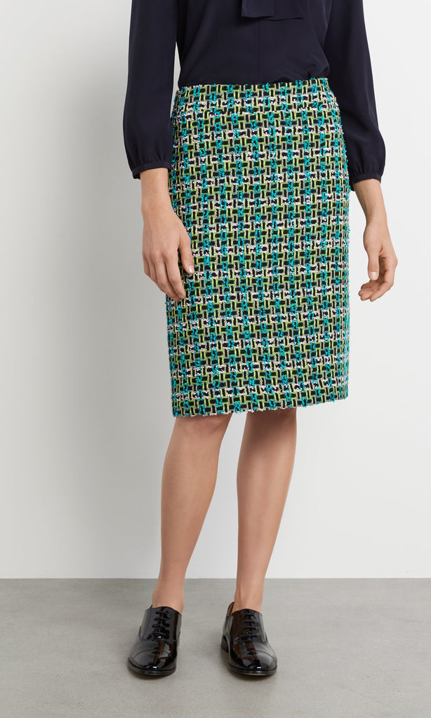 Exeter Skirt - Turquoise/Lime