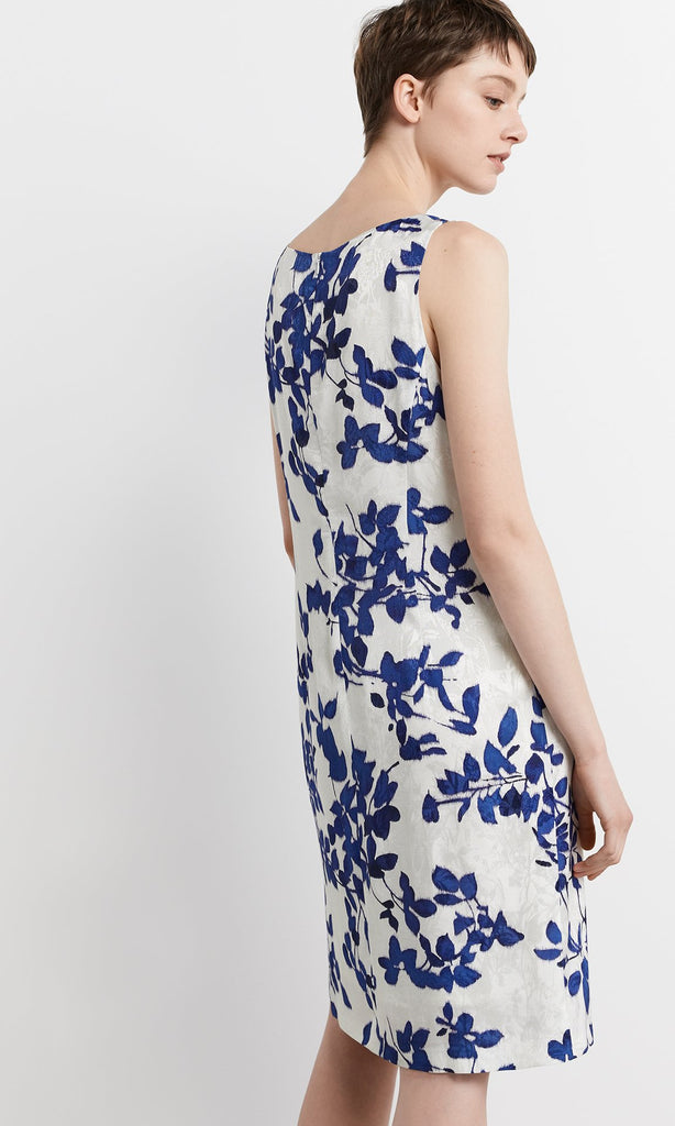 Vivara Dress - White/Blue