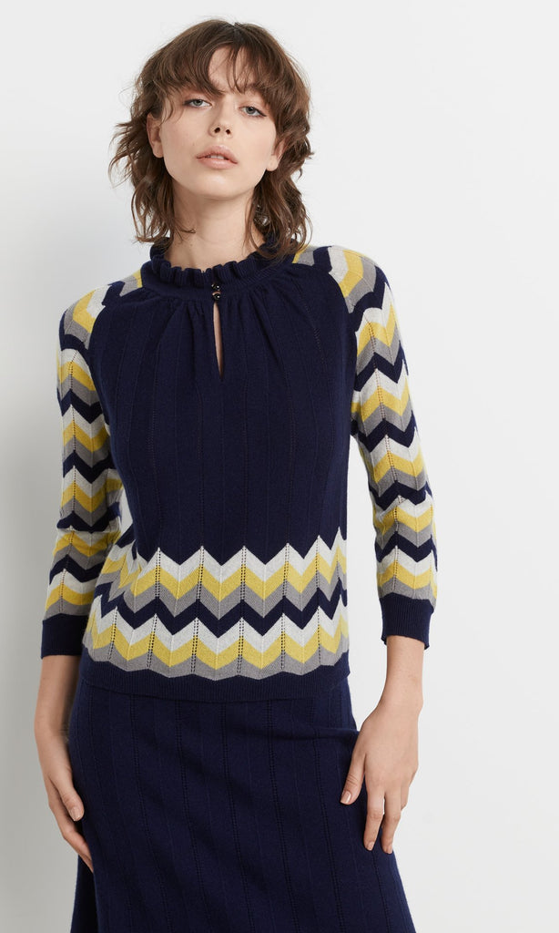 Purvis Top - Navy