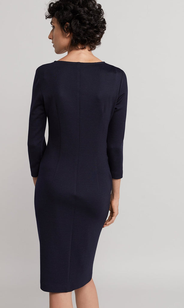 Elmore Wrap Dress - Navy